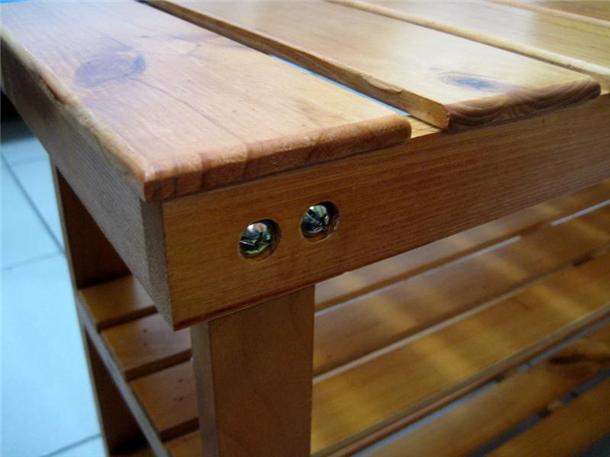 木板鞋柜安装图